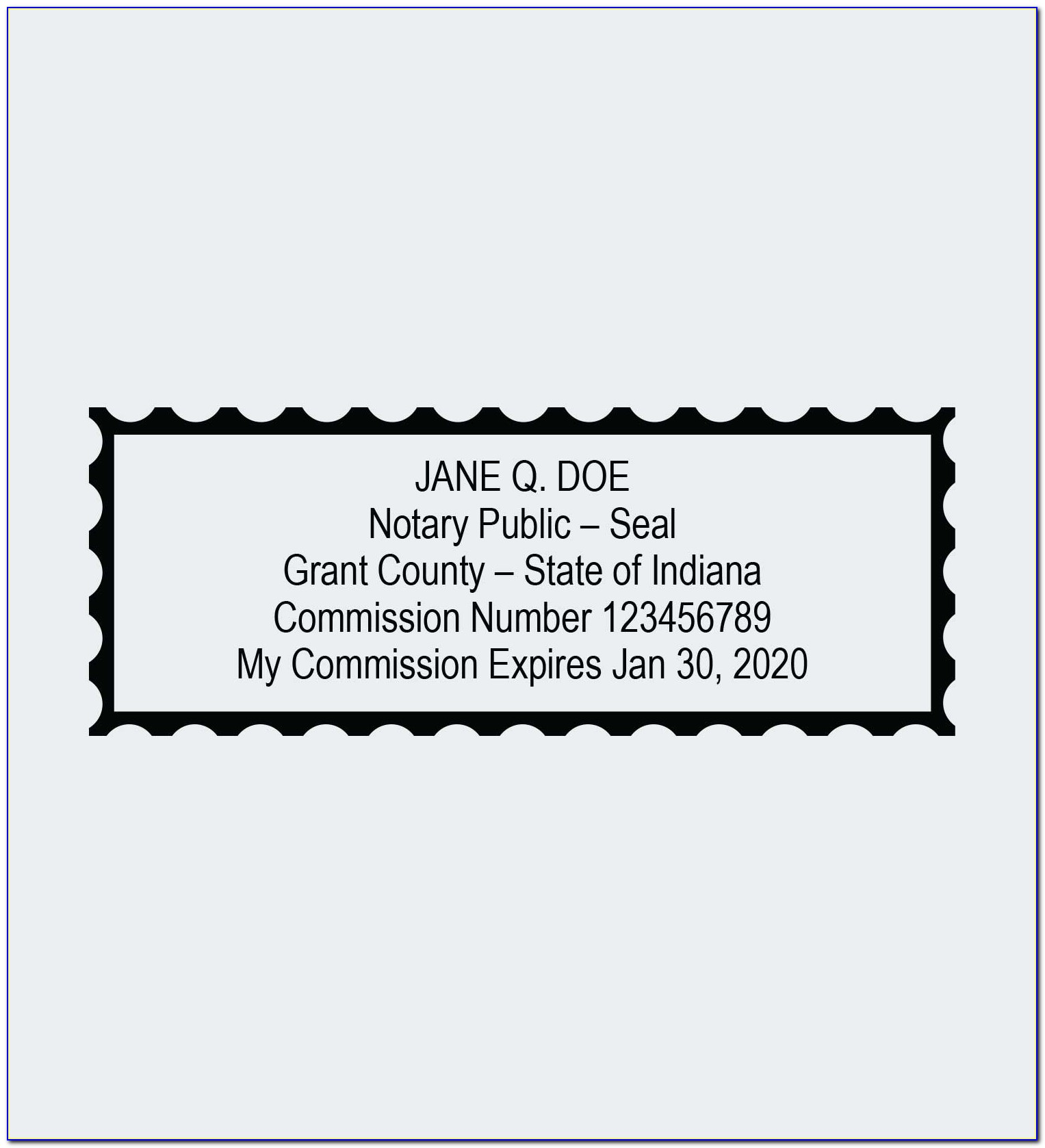 Indiana Secretary Of State Notary Certificate