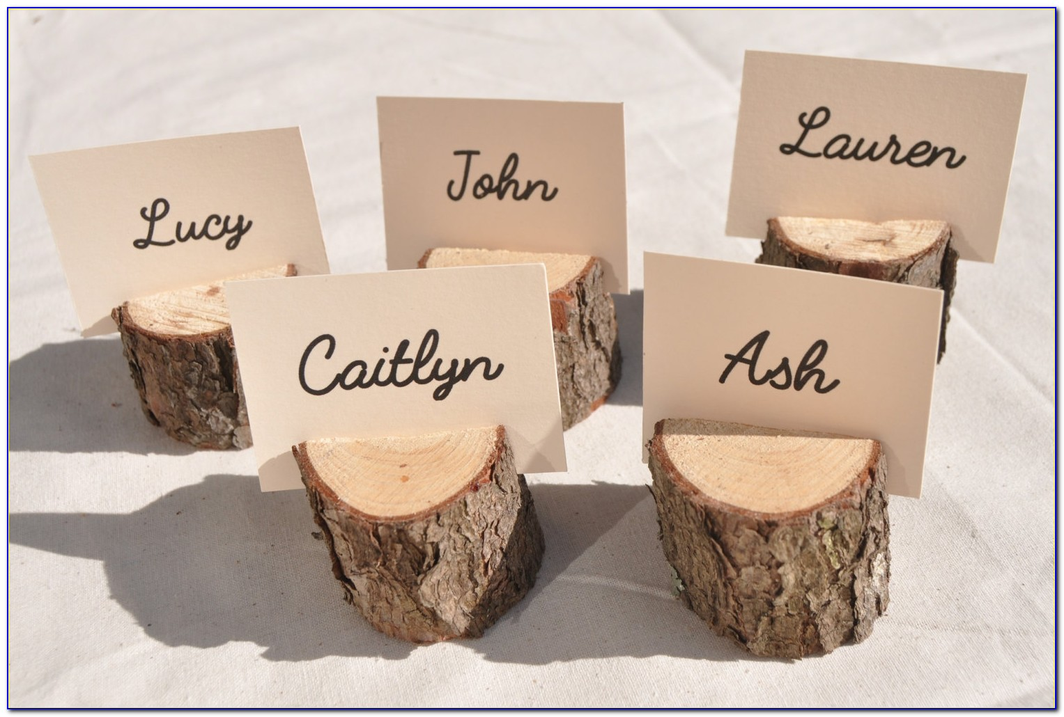 Inexpensive Wedding Place Card Ideas