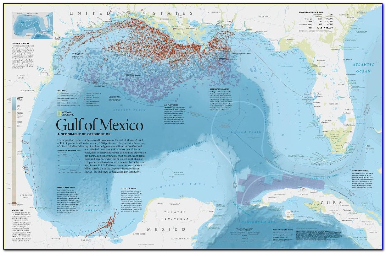 Interactive Map Of Oil Rigs In Gulf Of Mexico