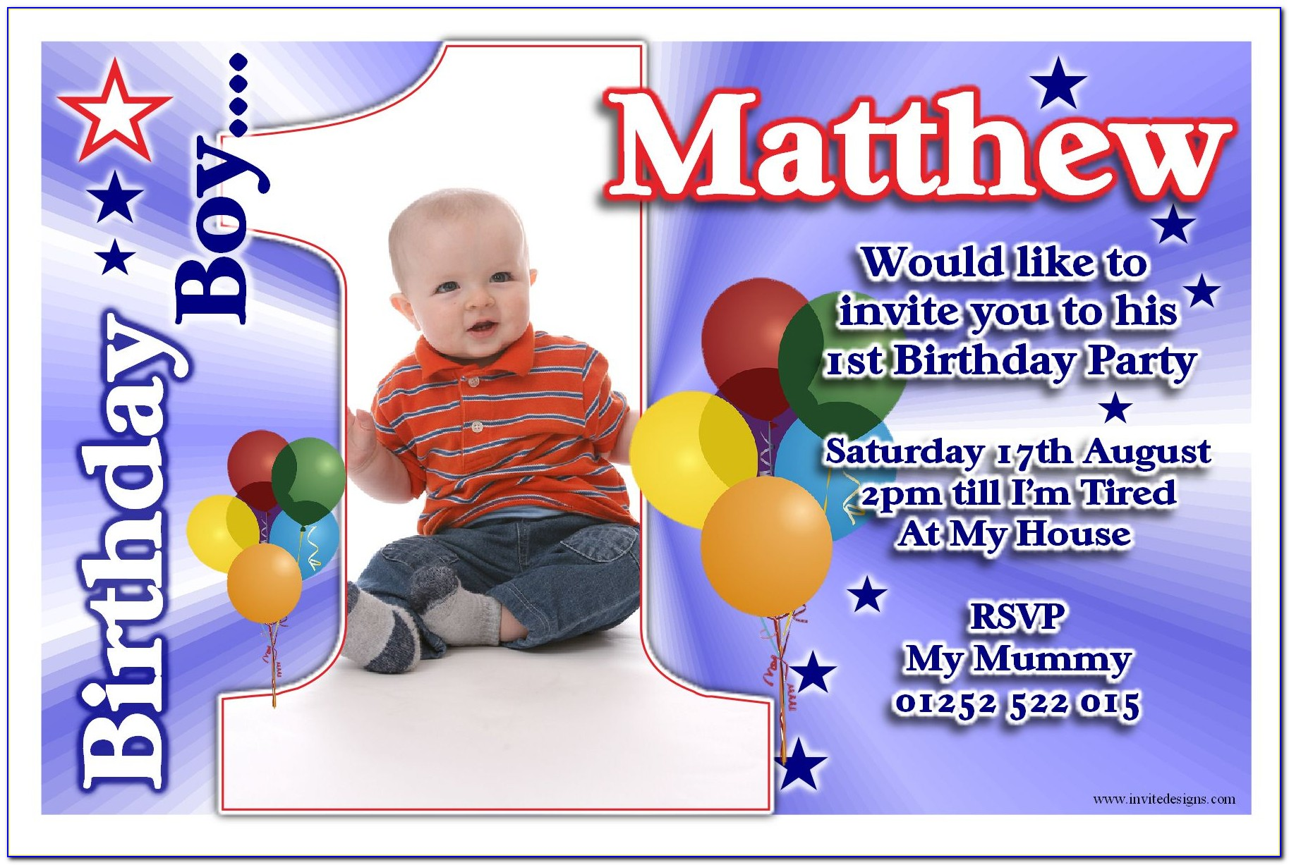 Invitation Card For Christening Baby Boy Background