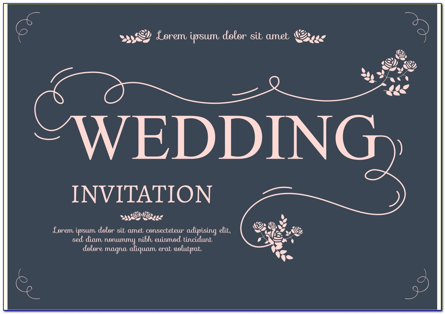 Invitation Card Template Psd Free Download