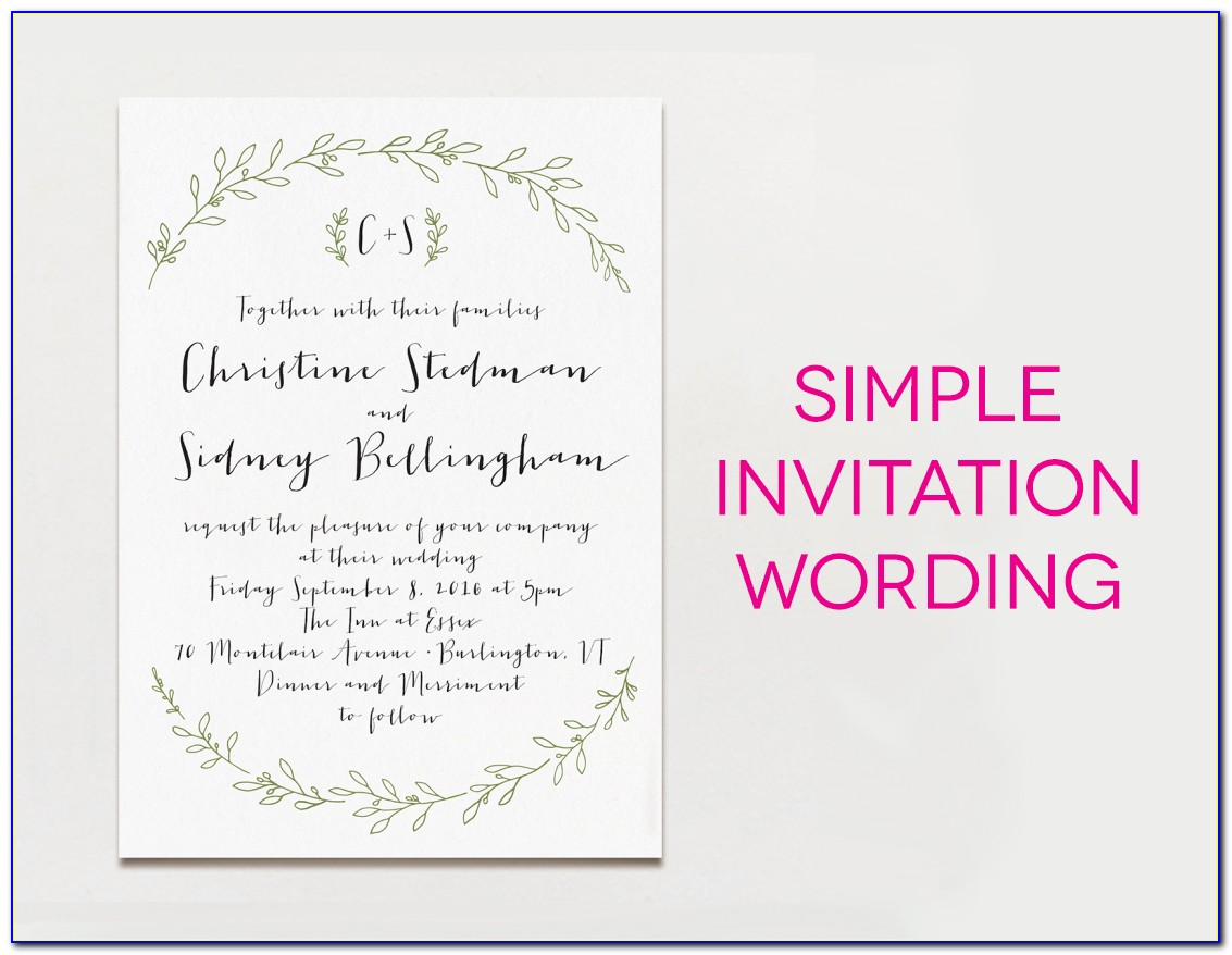 Invitation Text Message Sample For Wedding