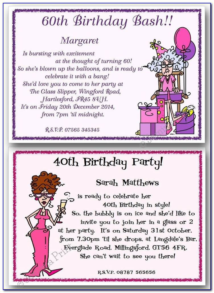 Invitation Wording For Adults Only Birthday Party
