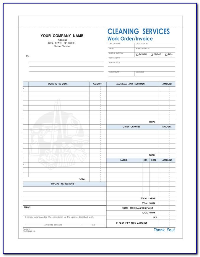 Invoice Template For Cleaning Services