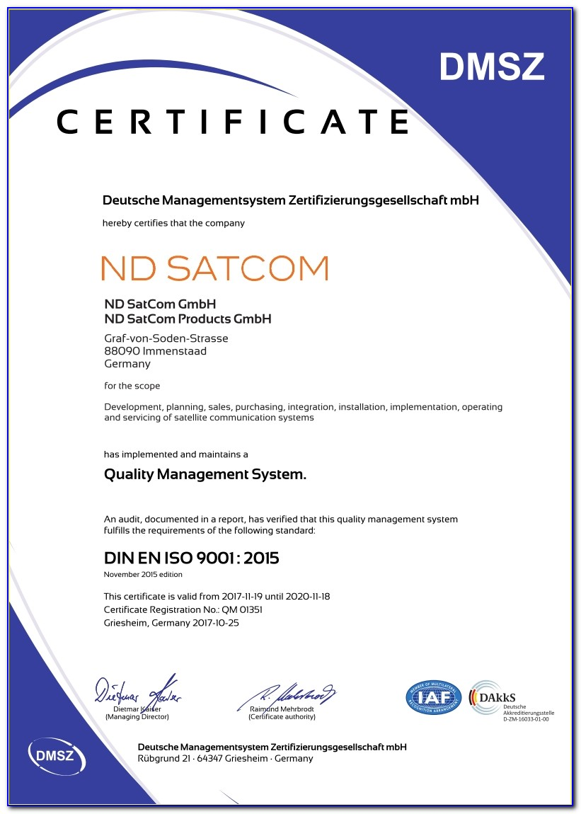 Iso 9001 Certification Check