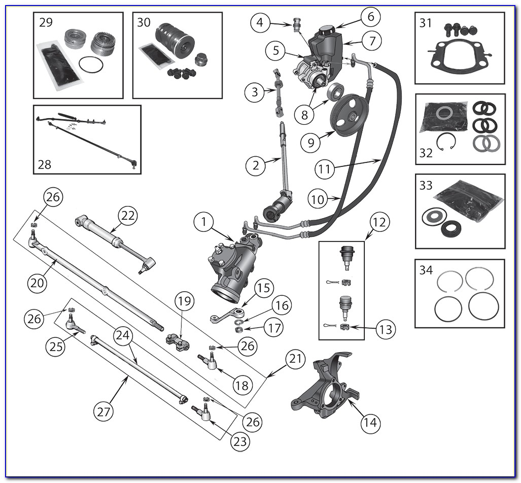 Jeep Yj Steering Column Assembly