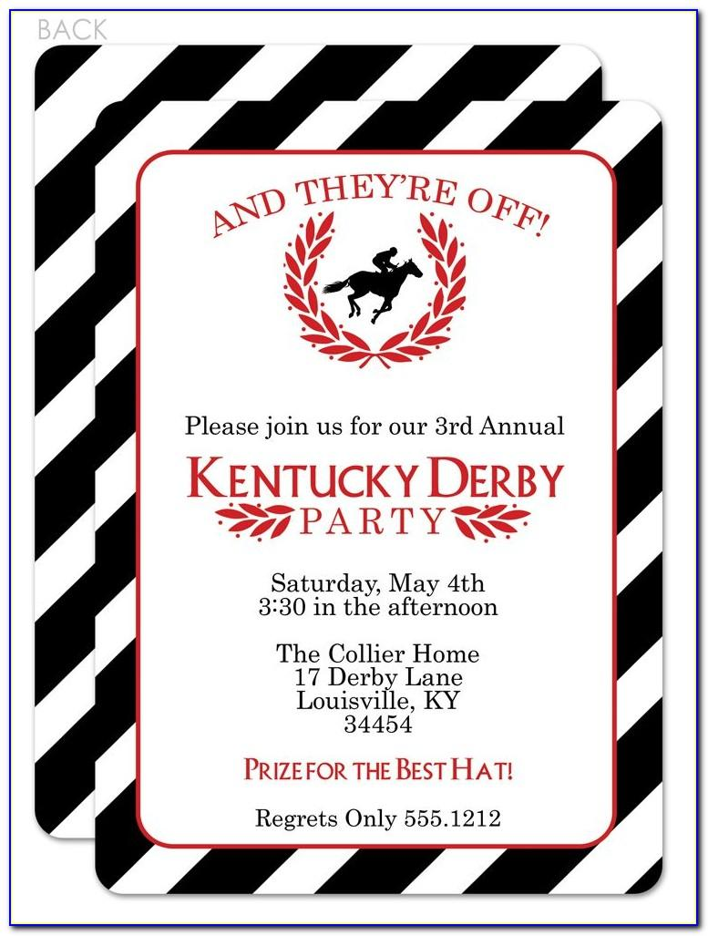 Kentucky Derby Party Invitations Templates Free