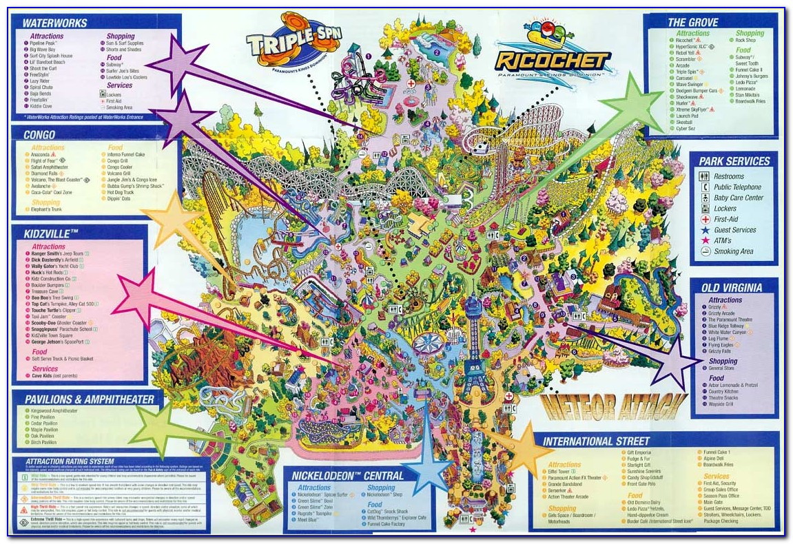 Kings Dominion Map 1975