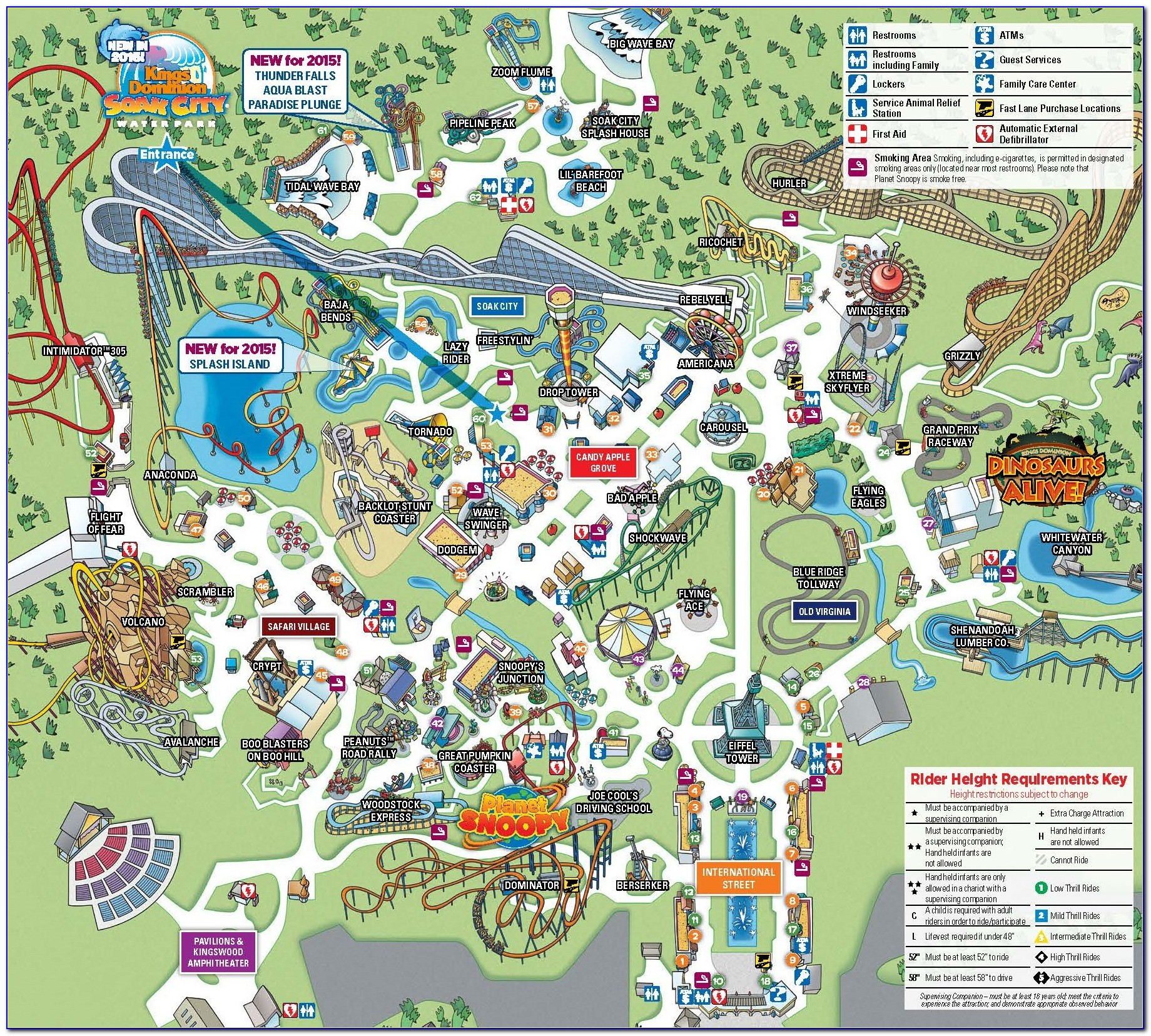 Kings Dominion Map 2015