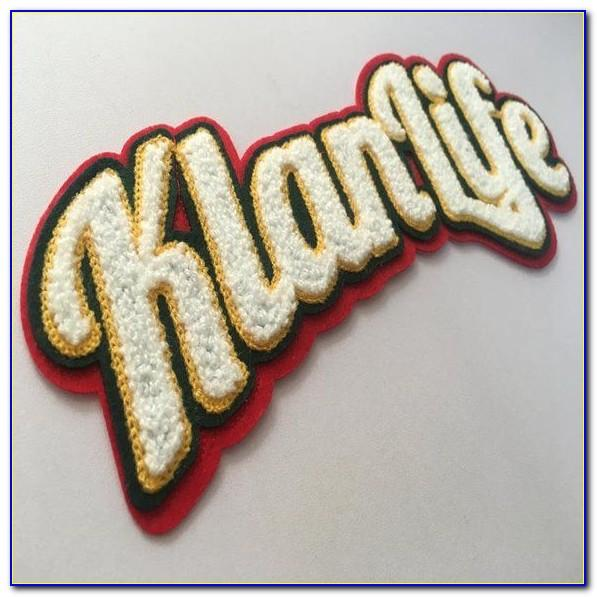 Large Chenille Letter Patches