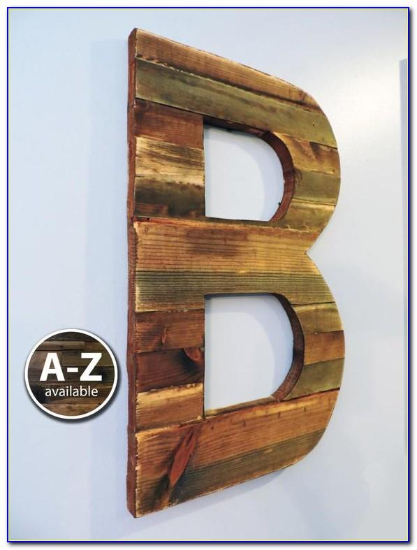 Large Rustic Letters For Wall