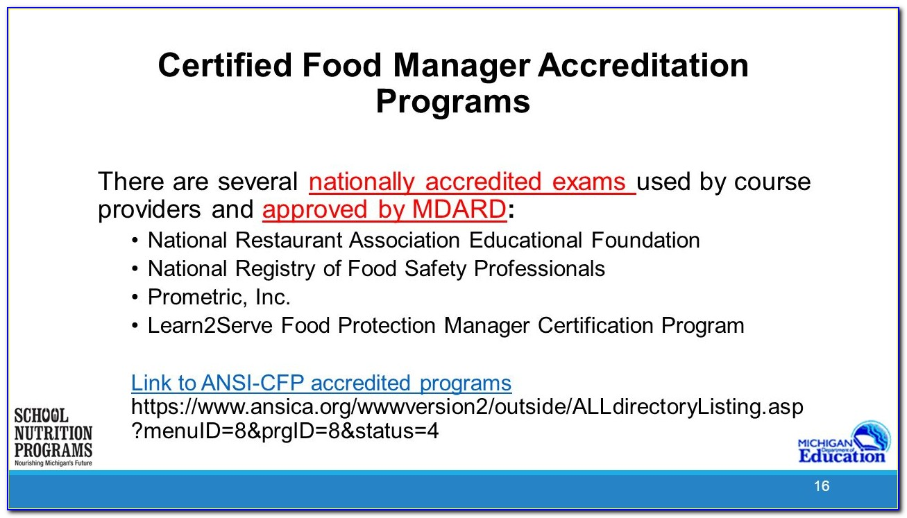 Learn2serve Certified Food Protection Manager Certification Practice Exam