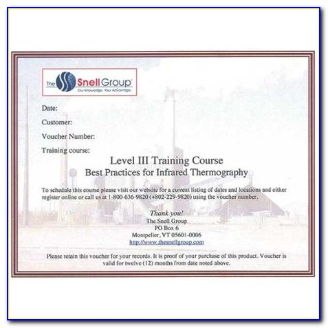 Level 1 Electrical Thermography Certification