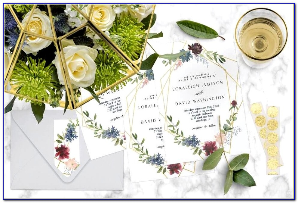 Lilac And Silver Wedding Invitations