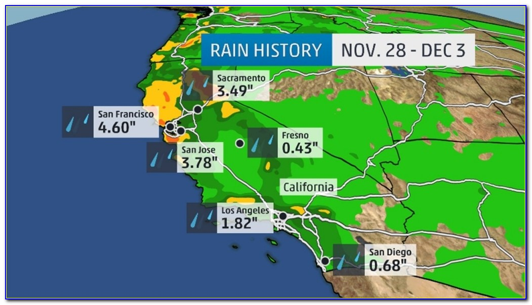 Los Angeles Weather Forecast Map