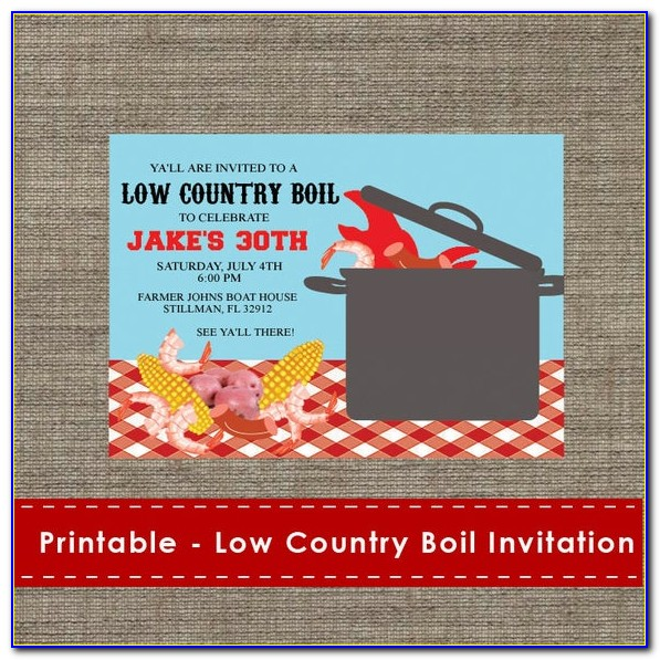 Low Country Boil Rehearsal Dinner Invitations