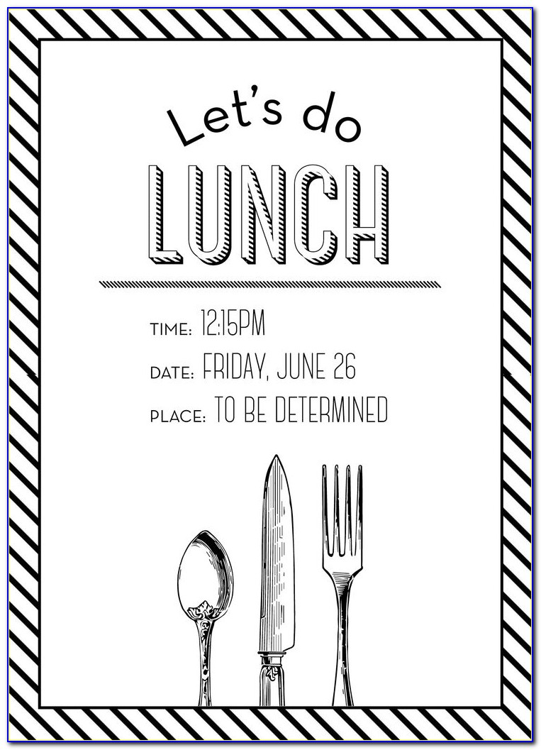 Lunch Invitation Wording Business