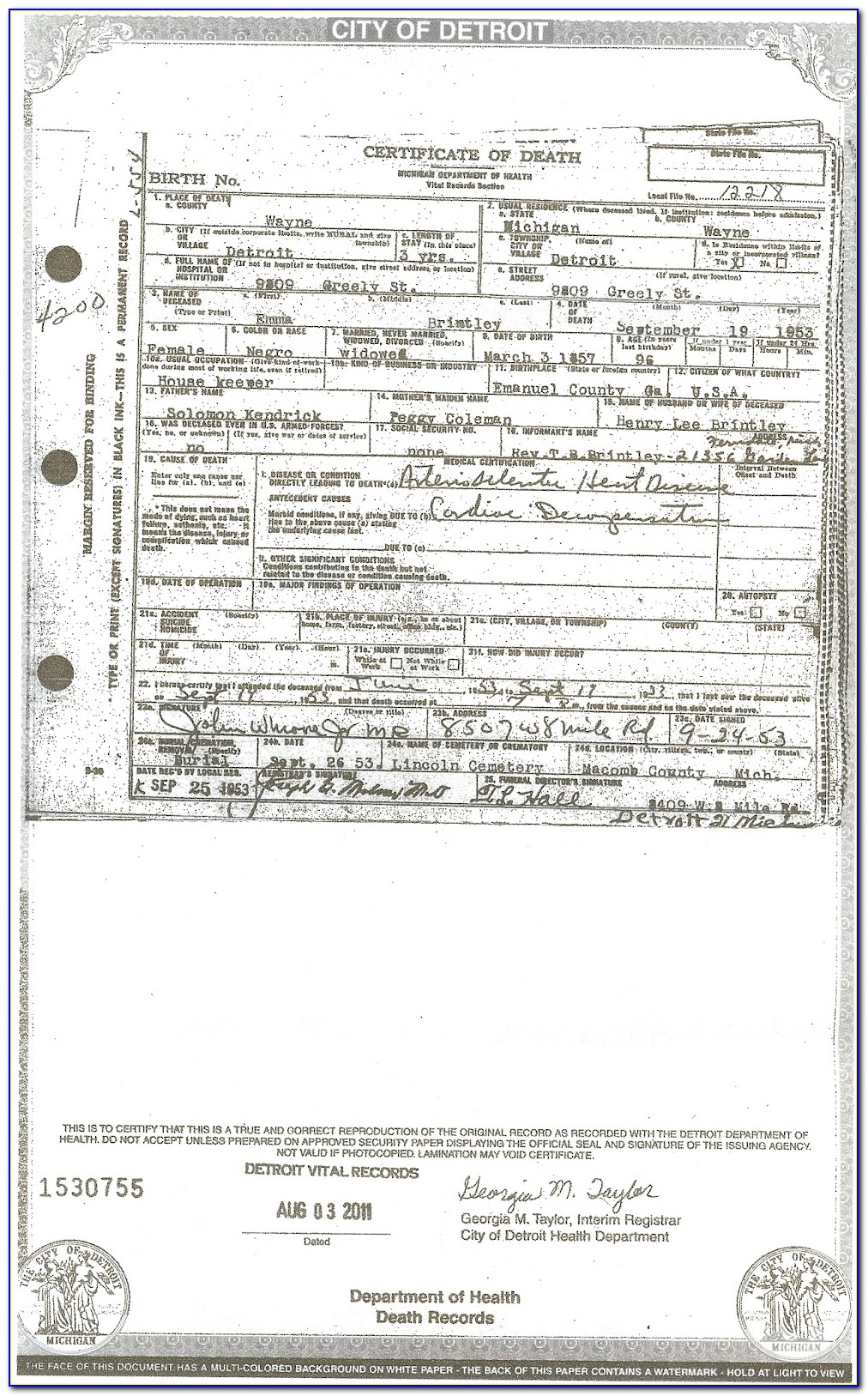 Macomb County Birth Certificate Replacement