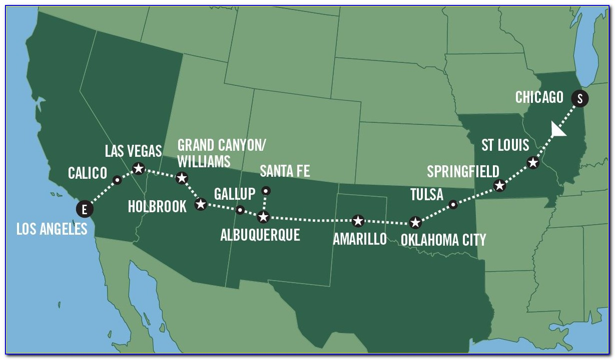 Map Of Historic Route 66 In New Mexico