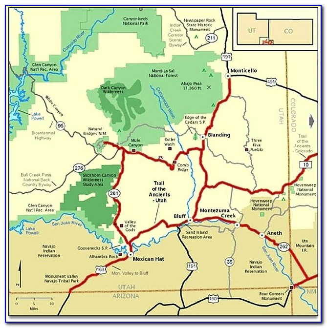 Map Of National Parks And Monuments In New Mexico