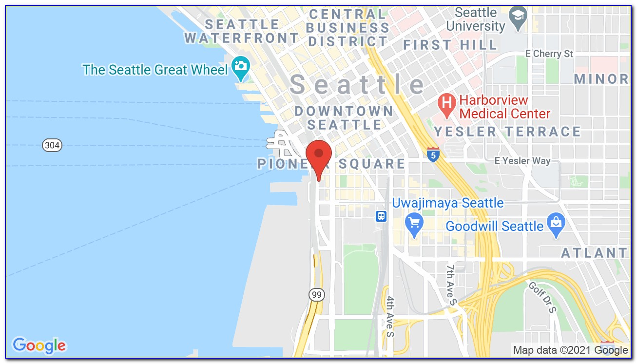 Map Of Seattle Waterfront Hotels