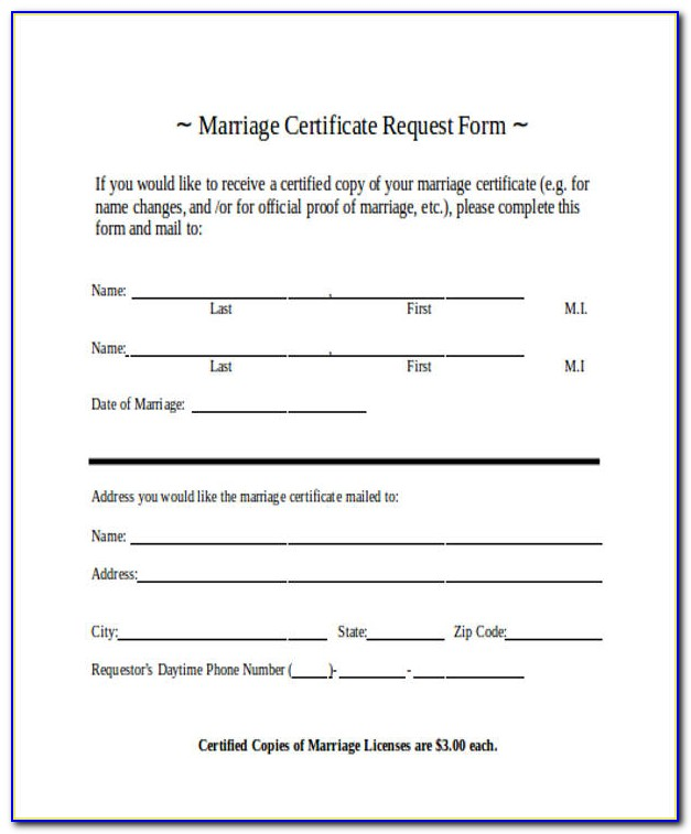 Marriage License Application Kane County