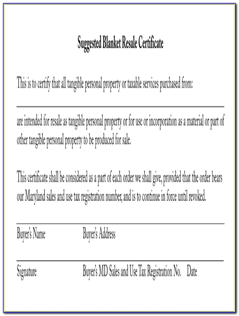 Maryland Resale Certificate Expiration