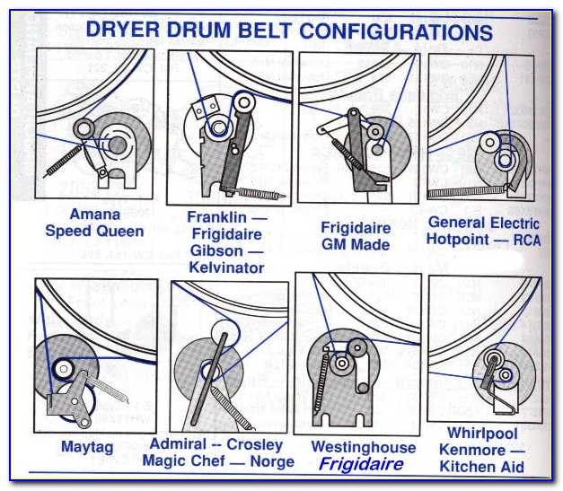Maytag Dryer Belt Replacement Diagram