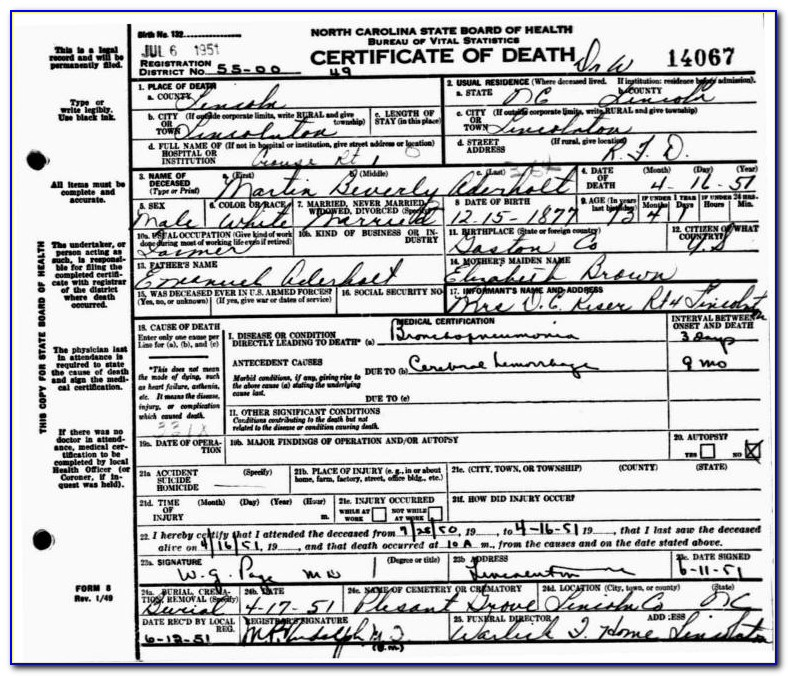 Mecklenburg County Birth Certificate Office