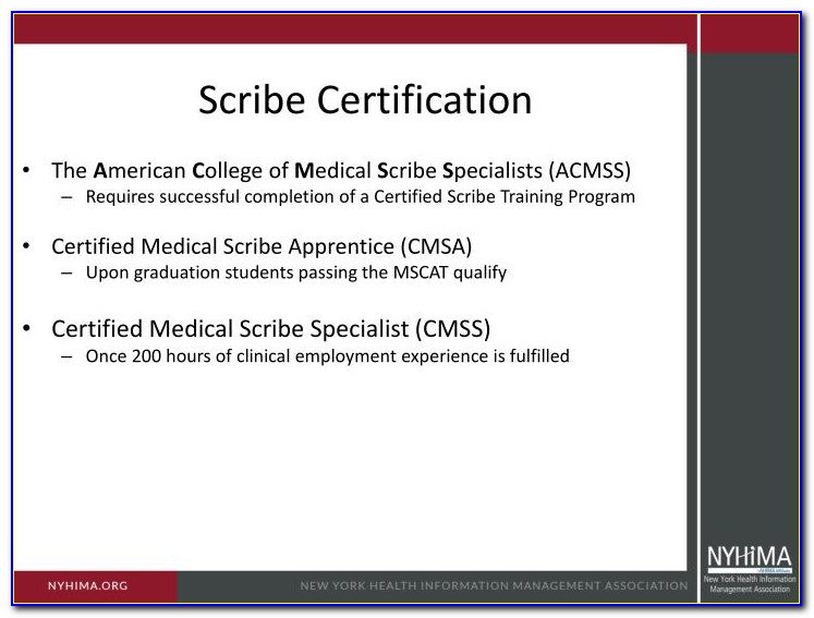 Medical Scribe Certification Near Me