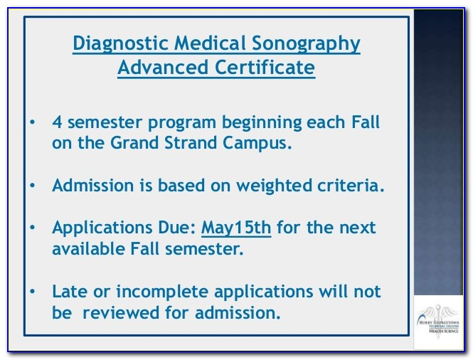Medical Sonography Certificate Online
