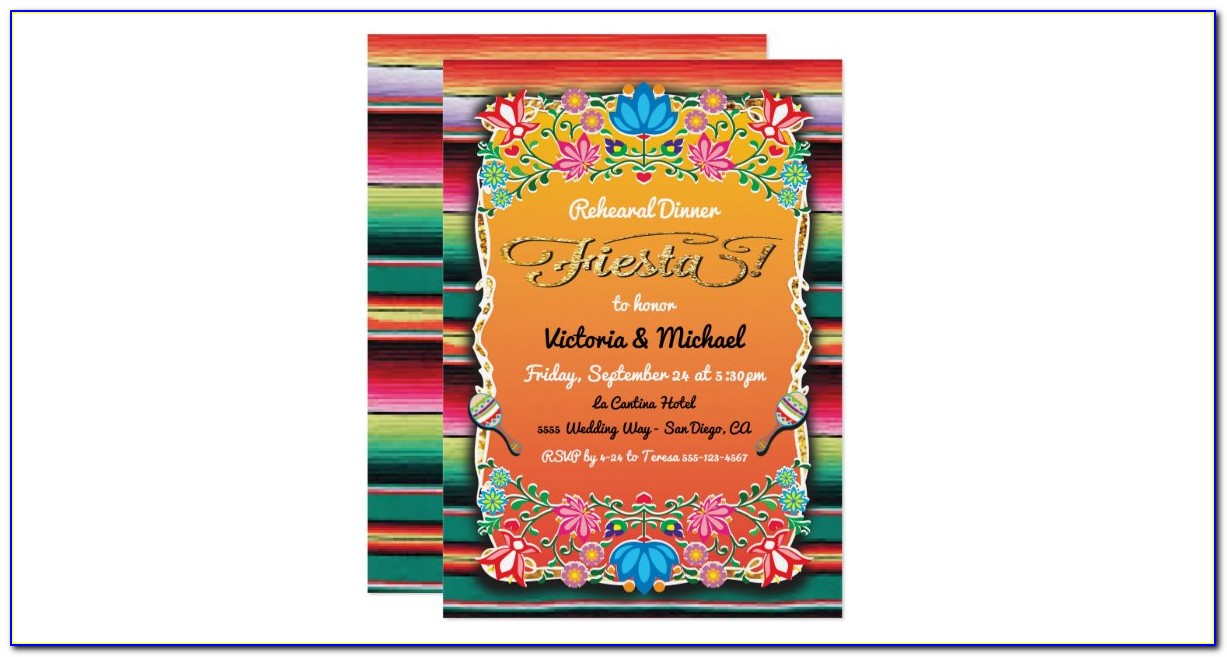 Mexican Themed Rehearsal Dinner Invitations