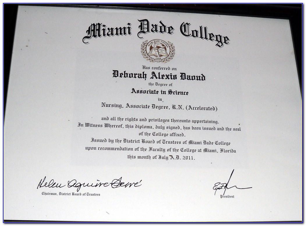 Miami Dade College Accounting Certificate