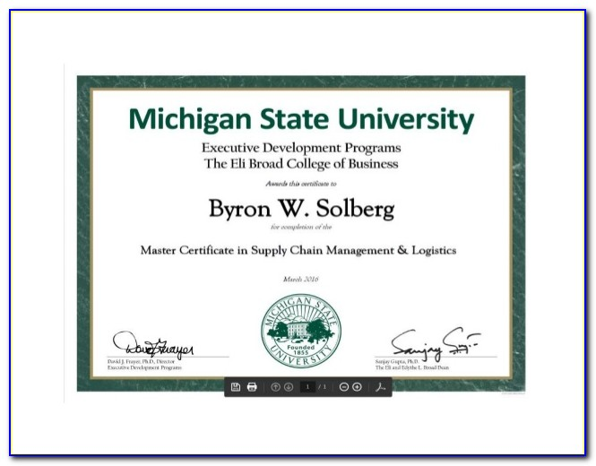 Michigan State Agriculture Certificate Programs