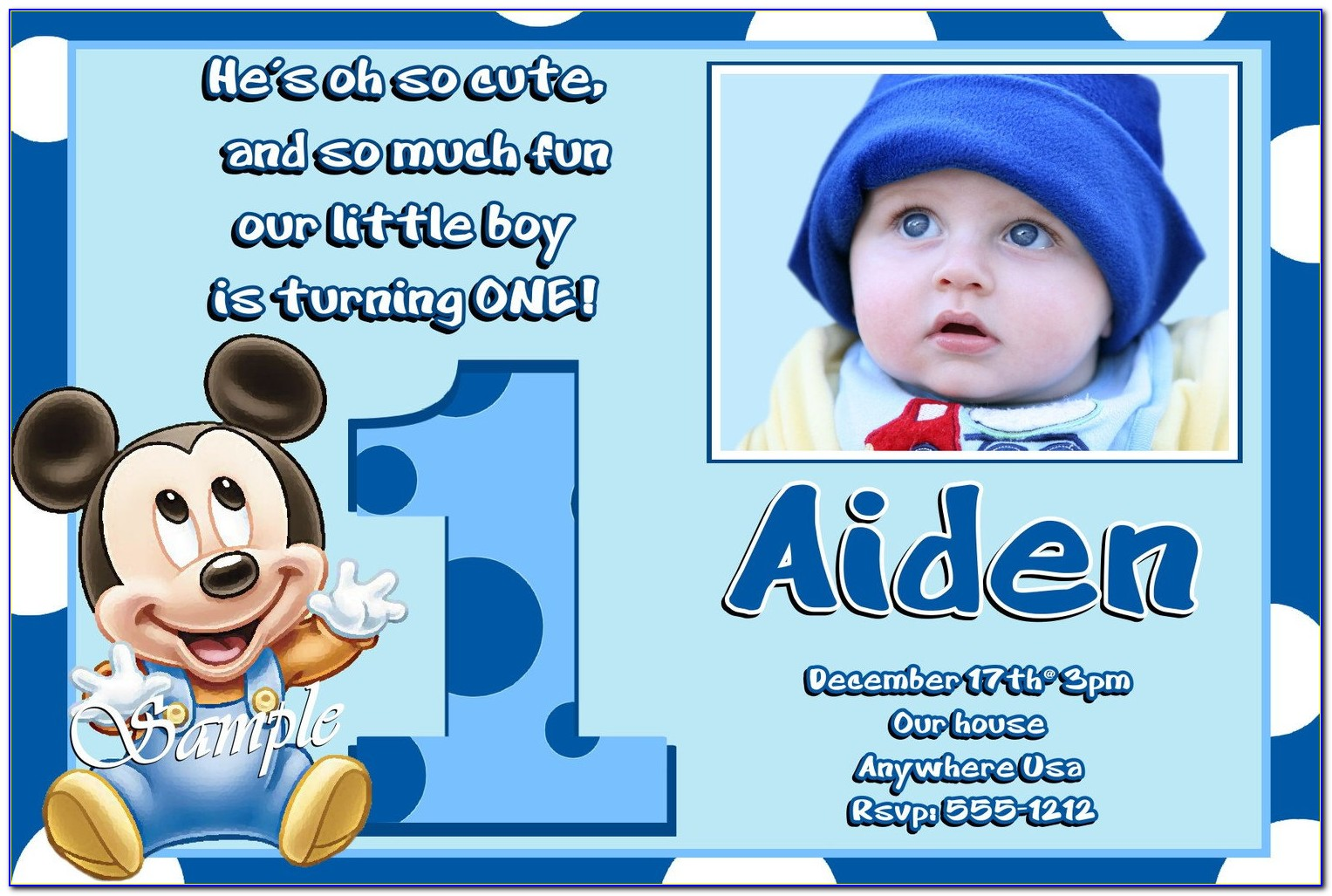 Mickey Mouse Baby Shower Invitations Free