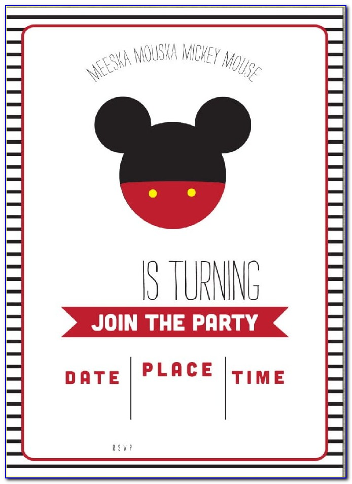 Mickey Mouse Oh Twodles Invitations