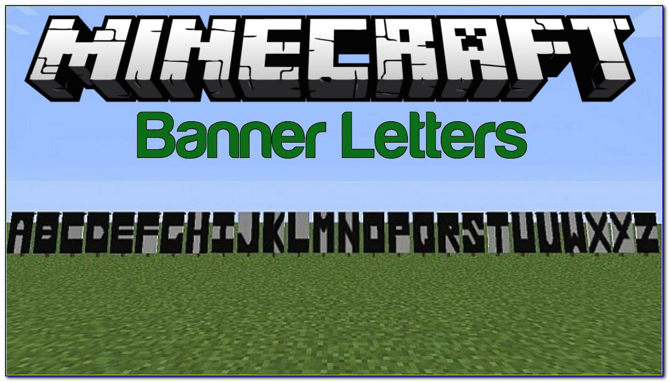 Minecraft Banner Letters 1.14