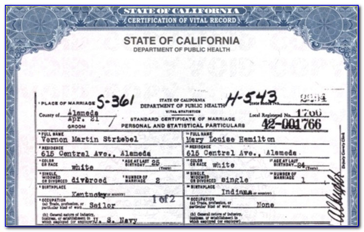 Minister Marriage License California