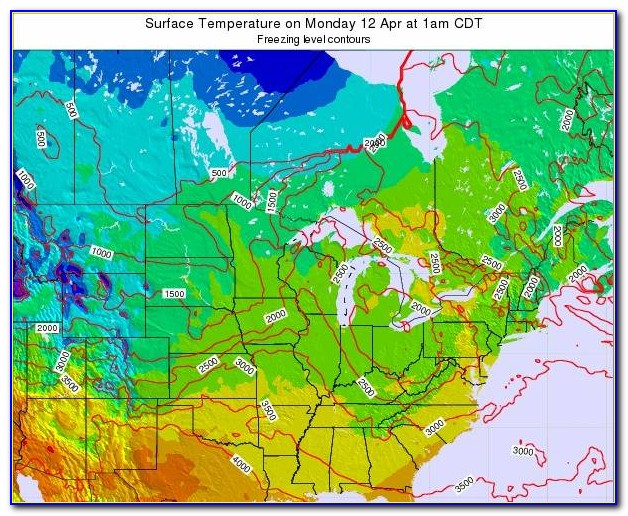 Minnesota Weather Map With Temperatures