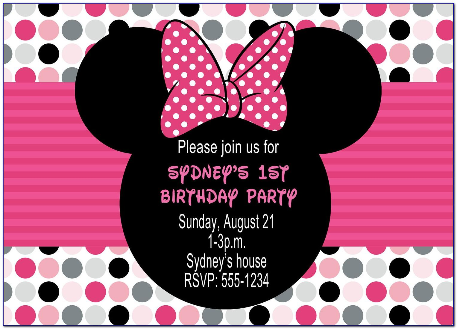 Minnie Mouse Birthday Cards
