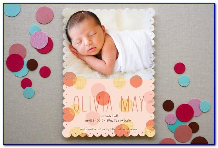 Minted Birth Announcement Cards