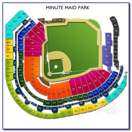Minute Maid Park Seating Map With Seat Numbers