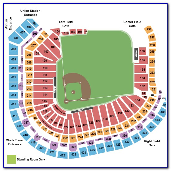 Minute Maid Park Section Map