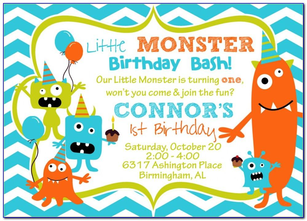 Monster High Invitation Template Free