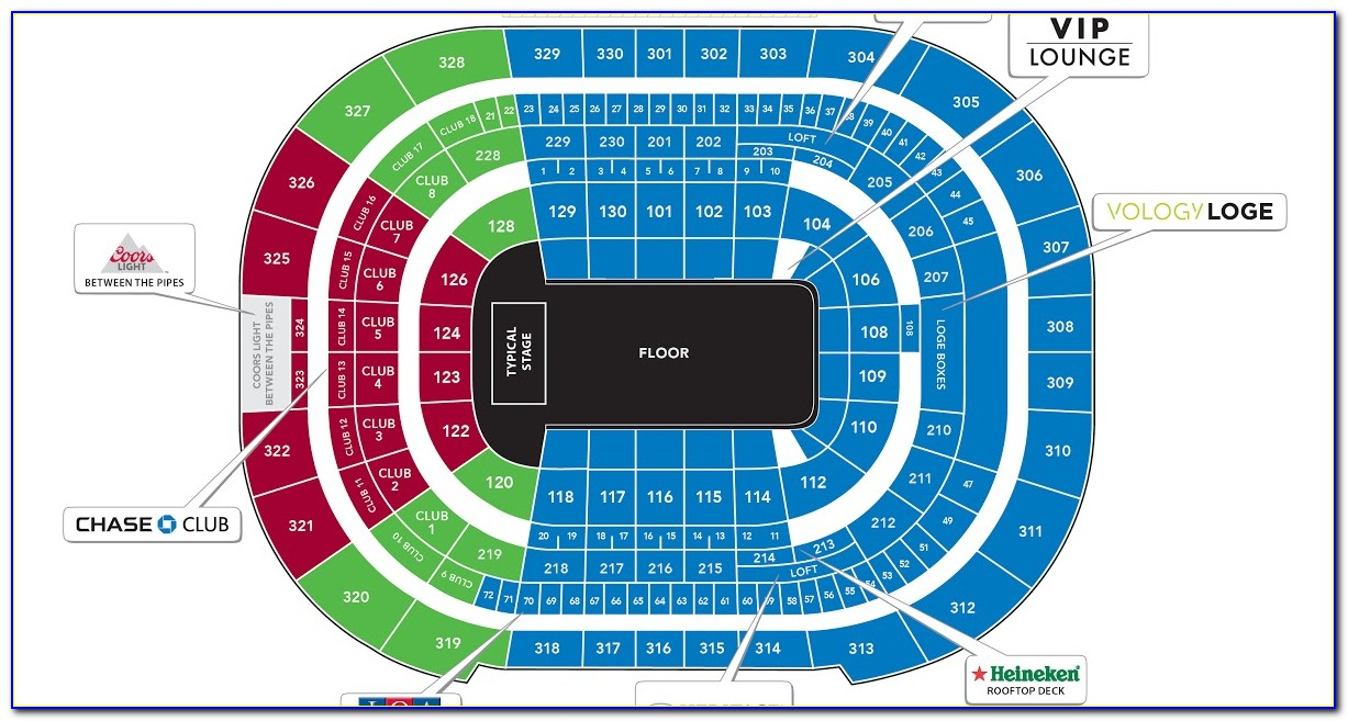 Msg Rangers Seating Map