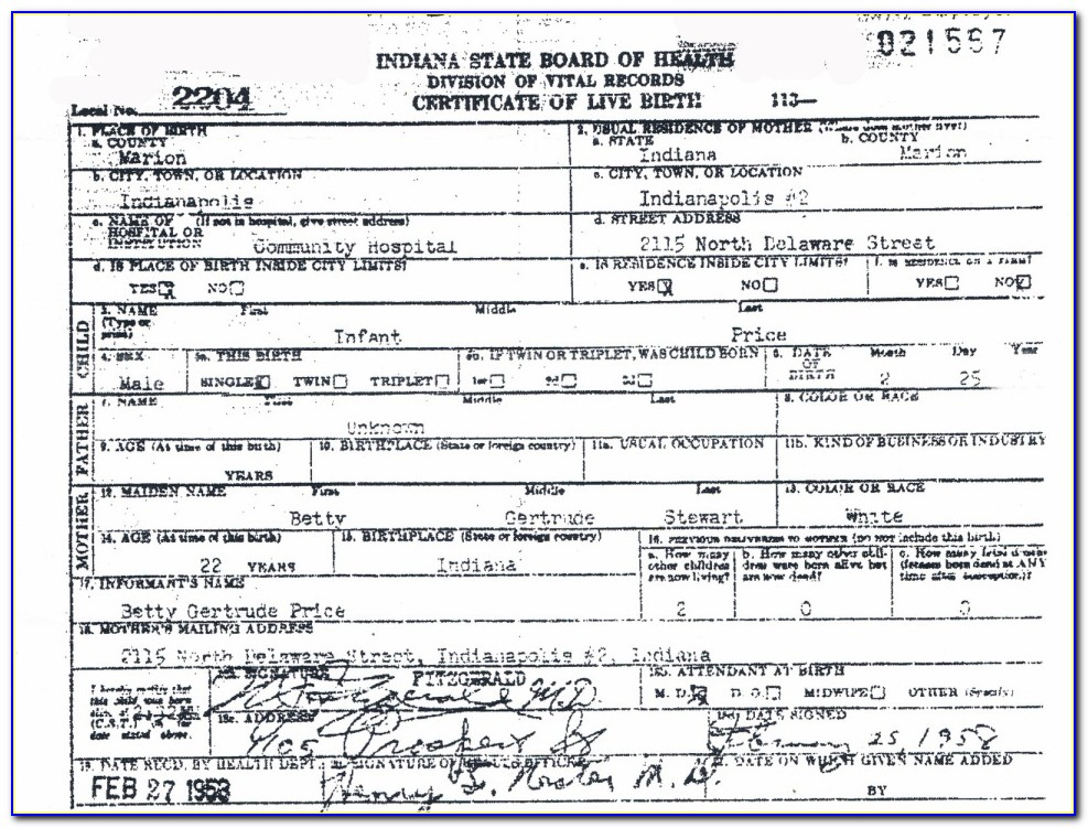 My Birth Certificate Has A Different Name