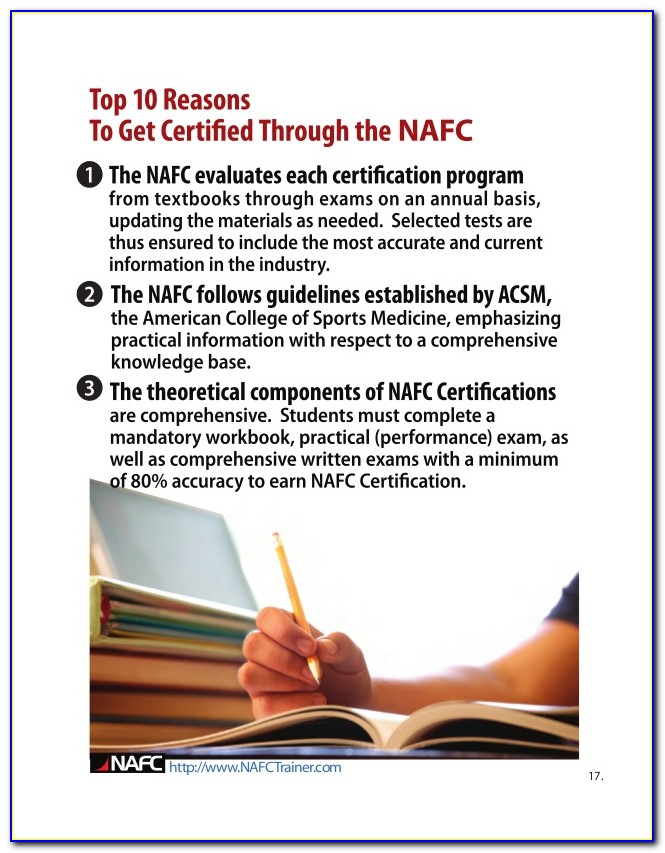 Nafc Group Fitness Certification