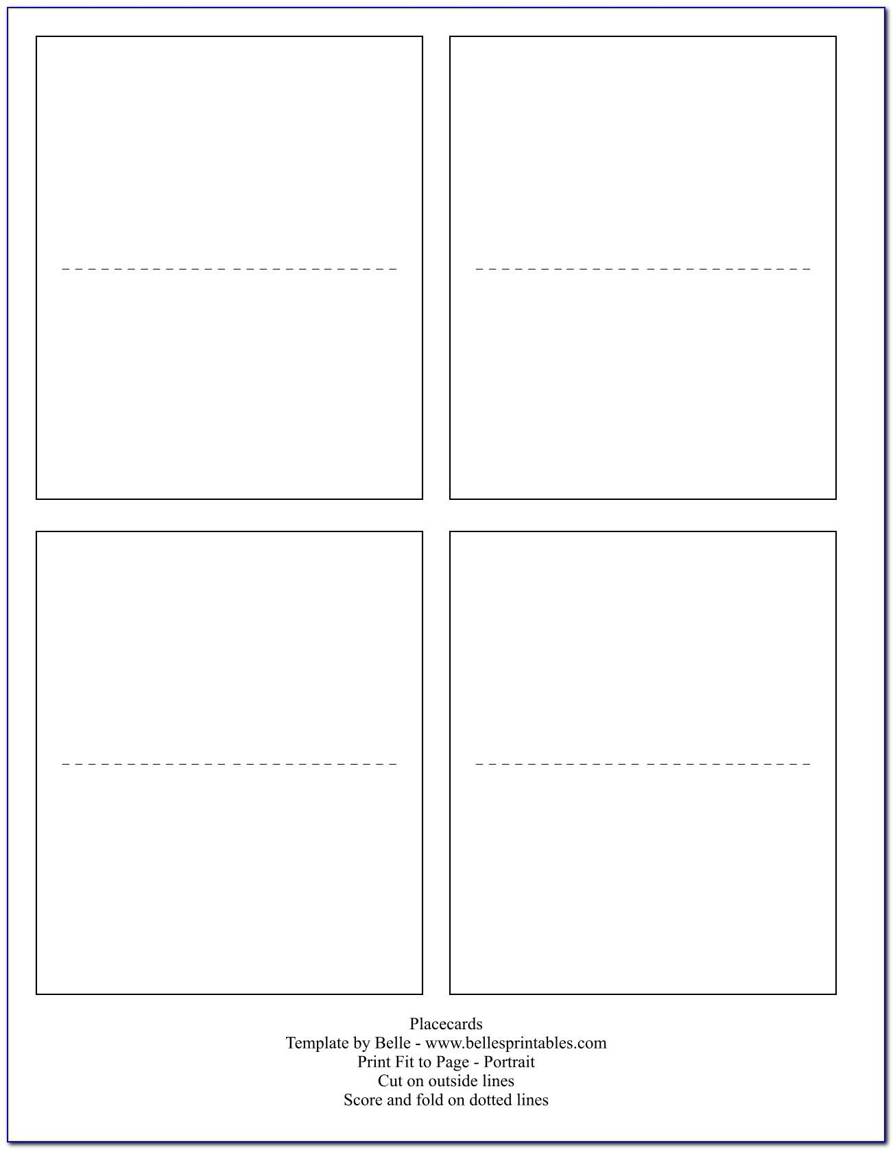 Name Place Card Tent Template