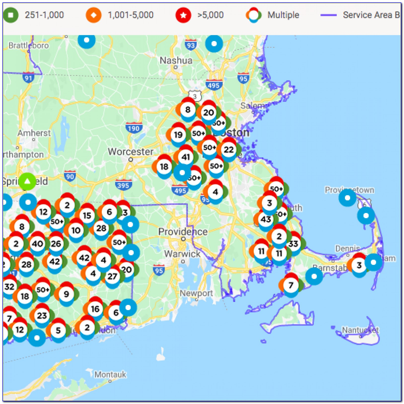 National Grid Power Outage Map Ma