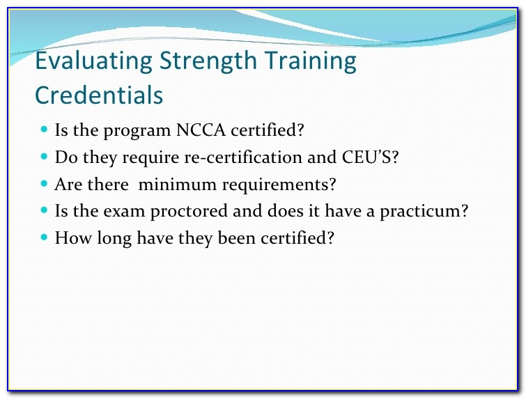 Ncca Accredited Certification Exam